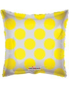 "18"" Yellow Circles Square"
