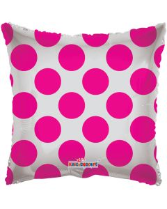 "18"" Hot Pink Circles Square"