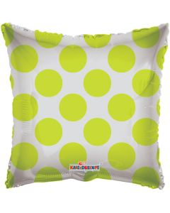 "18"" Lime Green Circles Square"