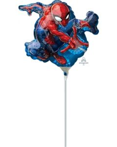 "14"" Spider-Man Shape Inflated with Cup & Stick"