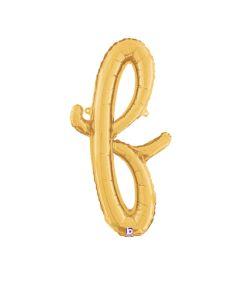 "24"" Script Letter ""f"" Gold"