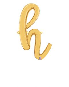 "24"" Script Letter ""h"" Gold"