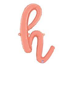 """24"""" Script Letter """"h"""" Rose Gold"""