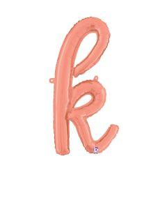 """24"""" Script Letter """"k"""" Rose Gold"""