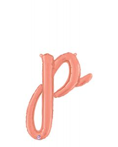 "24"" Script Letter ""p"" Rose Gold"
