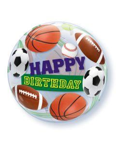 "22"" Sports Balls B'day Bubble"