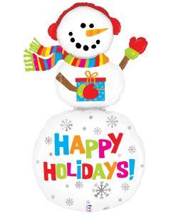 5' Happy Holidays Snowman