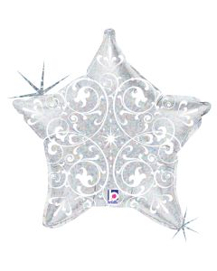 "21"" Filigree Star Silver"