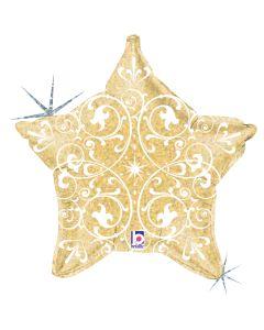 "21"" Filigree Star Gold"