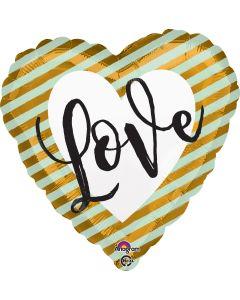 "18"" Love Stripes Gold Pkg"