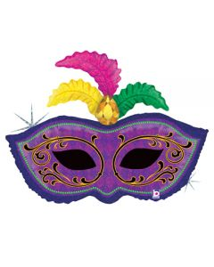 "34"" Mardi Gras Feather Mask"