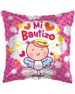 """18"""" Angelito Rosa Bautizo"""