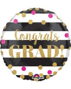 """18"""" Grad Confetti & Stripes"""