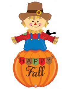 5' Fall Scarecrow & Pumpkin