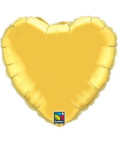 "18"" Metallic Gold Heart"