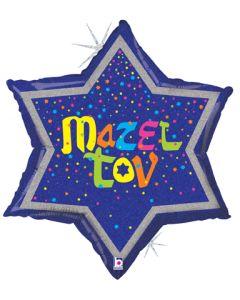 """24"""" Glittering Mazel Tov Star"""