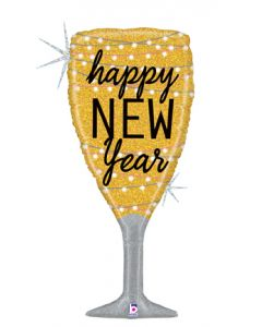 """37"""" New Year Glass of Bubbly"""
