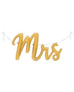 """47"""" 'Mrs.' Gold Script"""