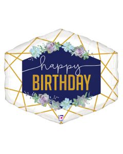 """30"""" Geo Floral Birthday Marquee"""