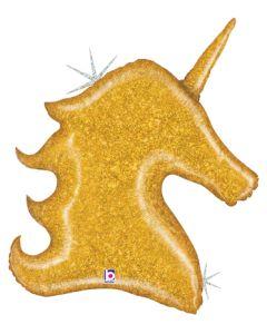"38"" Glittering Gold Unicorn"