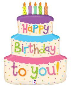 "27"" Girly Birthday Cake"