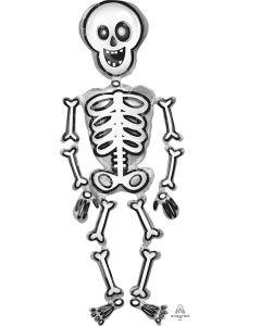 """76"""" Scary Skeleton Airwalker"""