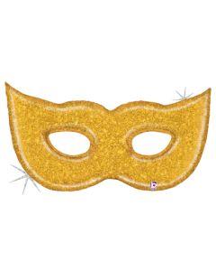 "51"" Gold Glitter Mask"