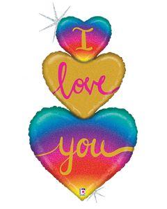 "40"" I Love You Heart Trio"