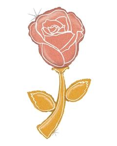 5' Fresh Pick Rose Gold Rose