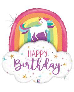 "35"" Unicorn Rainbow Birthday"