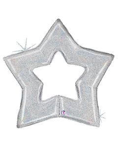"48"" Glittering Silver Star"