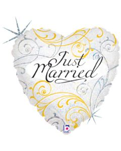 "18"" Just Married Filigree Pkg"