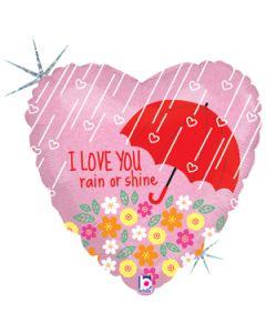 "18"" I Love You Rain or Shine Pkg"