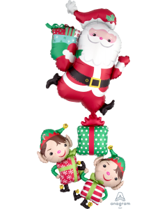 "63"" Santa Claus & Elves Stacker"