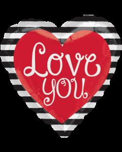 "18"" Love Stripes & Script"