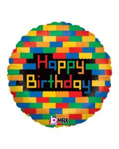 "18"" Birthday Color Blocks"