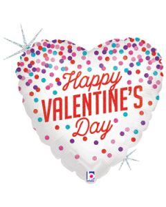 """18"""" Glittering Confetti Valentine"""