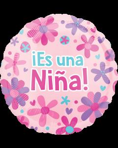 "18""Es Una Nina Pink Flowers"