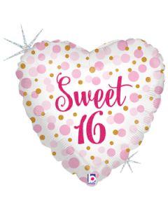 """18"""" Glittering Sweet 16 Pink"""