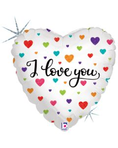 "18"" Colorful Hearts Love Pkg"