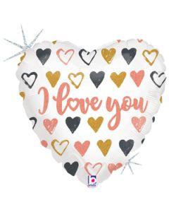 "18"" Rose Gold Love Script Pkg"