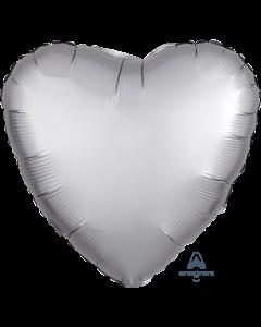 """18""""Satin Luxe Platinum Heart"""
