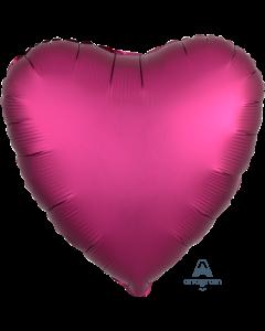 "18""Satin Luxe Pomegranate Heart"