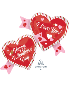 "38"" Hearts & Stripes Valentine"