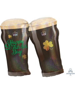"28"" St. Patrick's Day Beer Glasses"