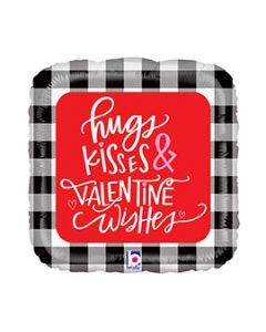 "18"" Hugs, Kisses, Valentine Wishes Pkg"