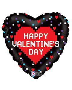 "18"" Valentine Hearts & Pixels Pkg"