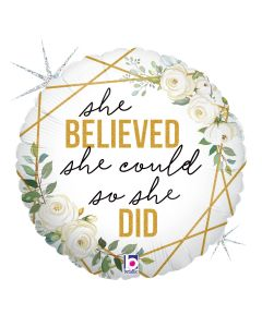"18"" She Believed, So She Did Pkg"