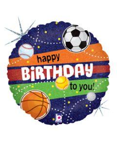 """18"""" Sports Birthday Pkg"""