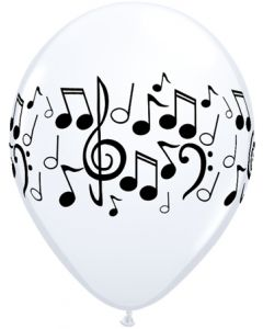 "11"" Music Notes White 50Ct"